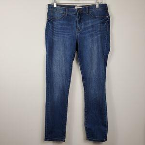 LILA RYAN Larkin Dark Wash Skinny Straight Jeans